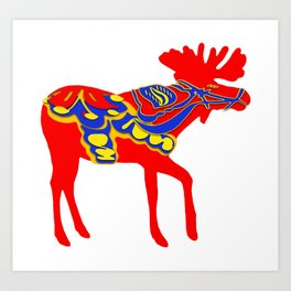 Graphic Dala Moose Art Print