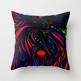 Fuchsia Glow Throw Pillow