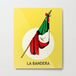 La Bandera Mexican Loteria Card Metal Print