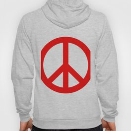 Peace (Red & White) Hoody