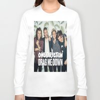1d Long Sleeve T-shirts featuring 1D Drag me down by kikabarros