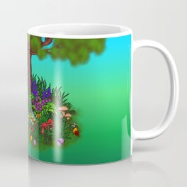 Spring-awakening - Puppy Capo and Butterfly Coffee Mug
