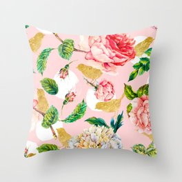 Blooming in spring Throw Pillow
