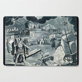 Raphael's Prophetic Almanack: a firing squad, war, and a sea battle (1828) Cutting Board