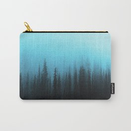 Teal Blue Ombre Misty Forest Carry-All Pouch