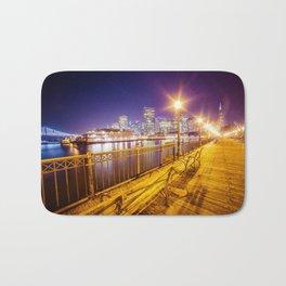 Old Pier and San Francisco Skyline Bath Mat