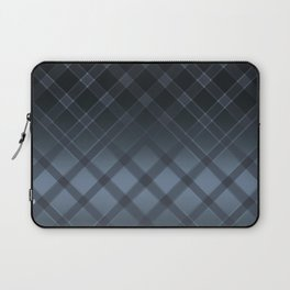 Dark gray pattern in the forward cage on satin grey background . Laptop Sleeve