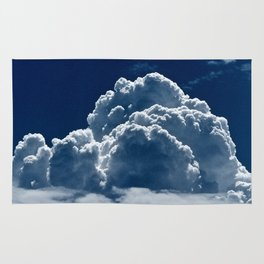Puffy Cumulus clouds on Deep Blue Sky Rug