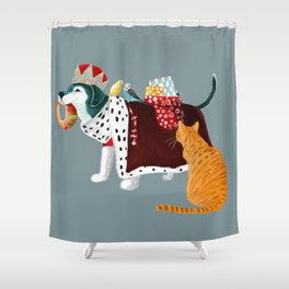 The king has come!! Shower Curtain