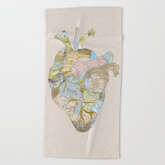 A Traveler's Heart (N.T) Beach Towel