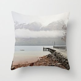Glenorchy Jetty Throw Pillow