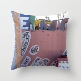 Broken Down Signs, Lights, and Colours in Las Vegas 02 Throw Pillow
