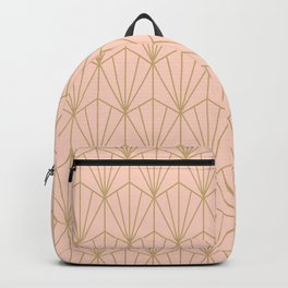 Art Deco Vector in Peach and Gold Backpack