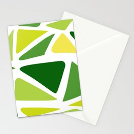 Green and yellow shapes Stationery Cards