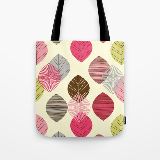 Linear leaves Tote Bag