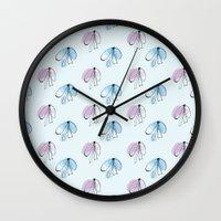 bows Wall Clocks featuring Bows by Anastasiya Zhulina