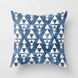 STACKED NAVY Throw Pillow