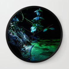 Leaf lighting Wall Clock