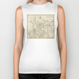 Territory of Minnesota Map (1849) Biker Tank
