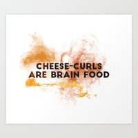 Cheese-curls Art Print