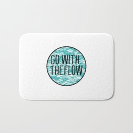 Go With The Flow Waves Bath Mat