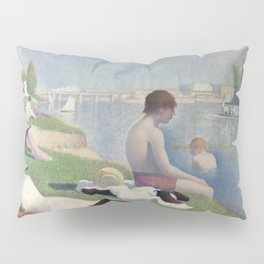 Bathers in Asnieres by Georges Seurat, 1884 Pillow Sham
