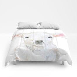 Lamb Face Watercolor Comforters