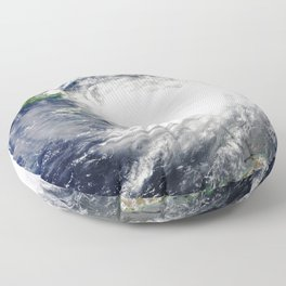 Gulf Coast Hurricane Floor Pillow