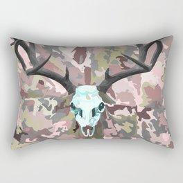 Camouflage Deer Collage Rectangular Pillow
