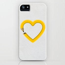 Love to draw iPhone Case