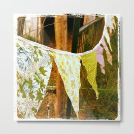 Bunting Flags Metal Print