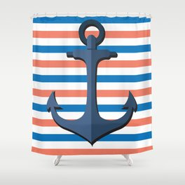 Anchor by the Sea Shower Curtain