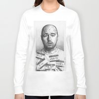 karl Long Sleeve T-shirts featuring Karl Pilkington by Bungle