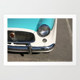 Vintage Car Headlight Art Print