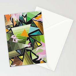 Mozaik / Zöld Stationery Cards