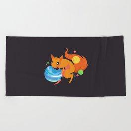 Eater of Worlds Squirrel of Doom Beach Towel