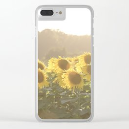 Sunflower Sunset Clear iPhone Case