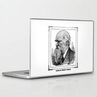 darwin Laptop & iPad Skins featuring Charles Robert Darwin by Bramble & Posy