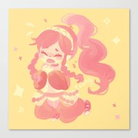 charmaine olivia Canvas Prints featuring Olivia by tcong