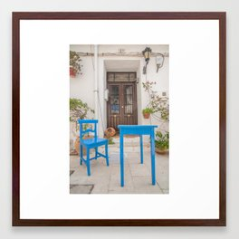 Chair and Table Framed Art Print