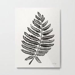 Fern Leaf – Black Palette Metal Print