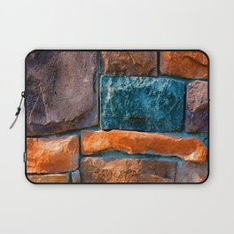 Colored Stone Wall Laptop Sleeve