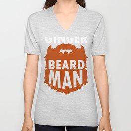 Irish Red Ginger Beard design Unisex V-Neck