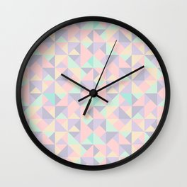 Pastel Nude Cute Triangles Wall Clock