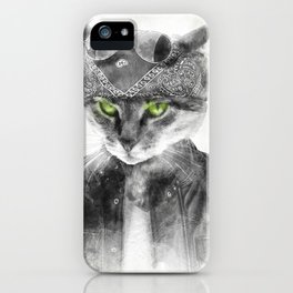 Biker Cat iPhone Case