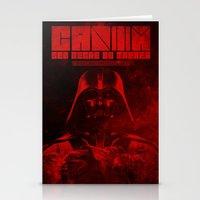 dark side Stationery Cards featuring Dark Side by cihan