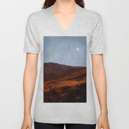 Moon Over Rannoch Unisex V-Neck