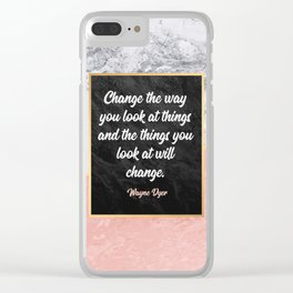 Change the way you look at things Clear iPhone Case