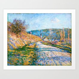 Claude Monet - The Road to Vetheuil - Digital Remastered Edition Art Print