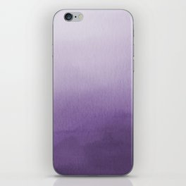 Inspired by Pantone Chive Blossom Purple 18-3634 Watercolor Abstract Art iPhone Skin